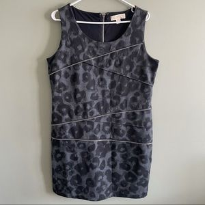 Michel Kors Animal Print Grey Dress